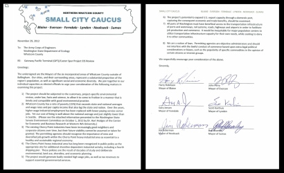 small city caucus eis comment both