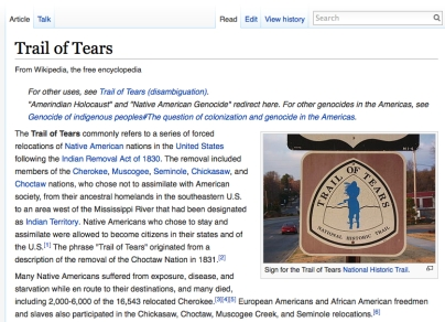trail of tears and holocaust 7 pages in length often referred to as the american holocaust, the trail of tears represents a battle between the european settlers and the cherokee indians that.