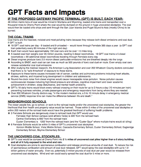 gpt facts and impacts for coal stop