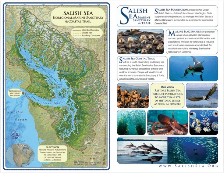 Salish Sea Marine Sactuary map