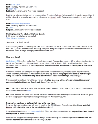 whatcom Republican april 11 flyer for april 13 charter meet