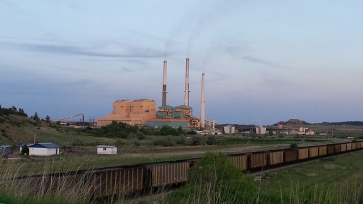 colstrip power plant and coal train