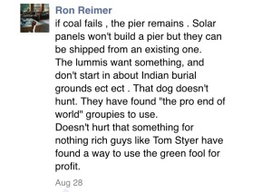 Comments posted by Ron Reimer under August 27 2015 3