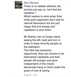 Comments posted by Ron Reimer under August 27 2015 4