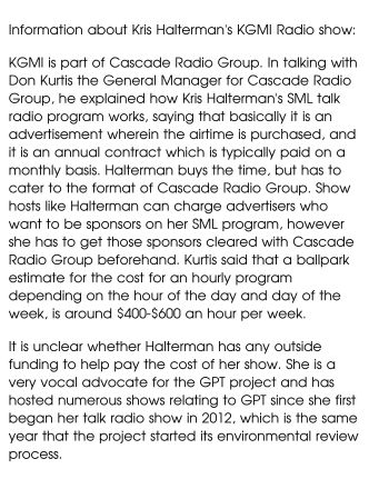 info about haltermans kgmi show