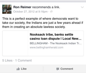 Reimers comment on an October 27 2012 Bellingham Herald