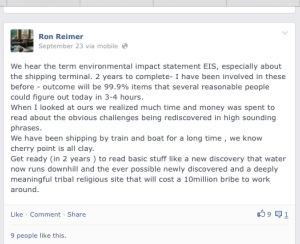 September 23 2013 Facebook post