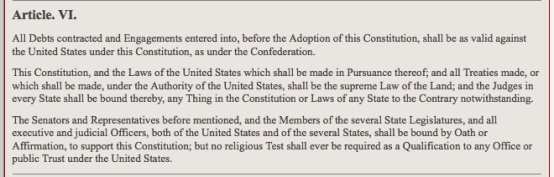 article 6 of the constitution