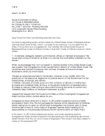Page one of the certified letter sent by Sandy Robson to the United States House Committee on Ethics, calling upon the committee to open an investigation into Congressman Ryan Zinke (R-MT), for potentially violating the United States House of Representatives Code of Official Conduct